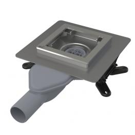 AlcaPLAST подов сифон без решетка със странично оттичане ф40 APV110