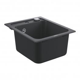 GROHE кухненска мивка композитна с 1 корито и автоматичен сифон черен гранит K700 31650AP0