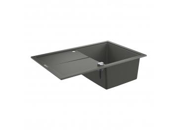 GROHE Кухненска мивка композитна за вграждане с едно корито и плот сив гранит К400 31639AT0