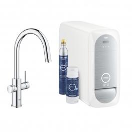 GROHE Кухненски комплект за филтрирана, газирана и изстудена вода BLUE HOME с С-чучур 31541000