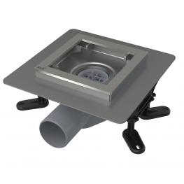 AlcaPLAST подов сифон без решетка със странично оттичане ф50 APV120