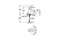 GROHE Смесител за умивалник едноръкохватков S - размер без изпразнител EUROSMART 32467002