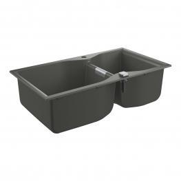 GROHE Кухненска мивка композитна с 2 корита и автоматичен сифон сив гранит K700 31658AT0