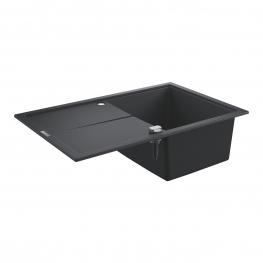 GROHE Кухненска мивка композитна за вграждане с едно корито и плот черен гранит К400 31639AP0