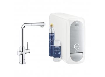 GROHE Кухненски комплект за филтрирана, газирана и изстудена вода BLUE HOME с L-чучур 31539000