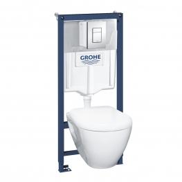 GROHE Комплект за вграждане SOLIDO 5 в 1 с тоал. чиния SEREL , SKATE COSMOPOLITAN бутон и капак 39186000