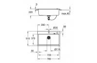 GROHE кухненска мивка композитна с 1 корито и автоматичен сифон черен гранит K700 31652AP0