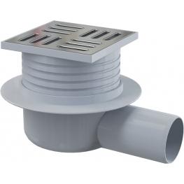 AlcaPLAST подов сифон с решетка със мокър затвор APV26