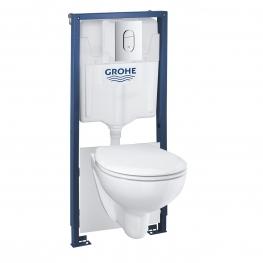 GROHE Комплект вграждане SOLIDO 5 в 1 с казанче, бутон, тоалетна чиния и капак с плавно затваряне 39418000