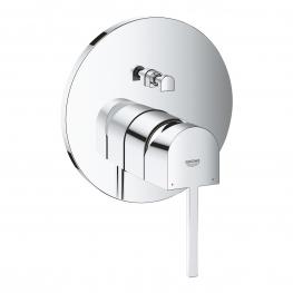 GROHE едноръкохватков смесител за вграждане за вана/душ, външна част с 2-степенен GROHE PLUS 24060003