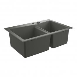 GROHE кухненска мивка композитна с 2 корита и автоматичен сифон сив гранит K700 31657AT0