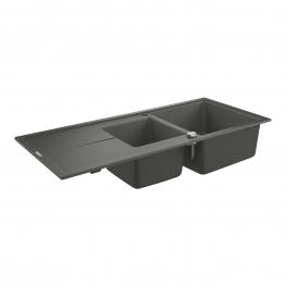 GROHE Кухненска мивка композитна за вграждане с 2 корита и плот сив гранит К400 31643AТ0