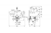 GROHE Комплект умивалник и смесител BAU CERAMIC, BAUEDGE M-размер 39643000