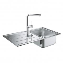 GROHE Комплект кухненска мивка K500 и смесител MINTA 31573SD0