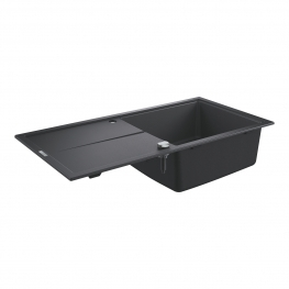 GROHE Кухненска мивка композитна за вграждане с едно корито и плот черен гранит К400 31641AP0