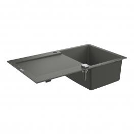 GROHE Кухненска мивка композитна 1 коритo и отцедник (плот) сив гранит K500 31644AT0