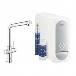 GROHE Кухненски комплект за филтрирана, газирана и изстудена вода BLUE HOME с L чучур 31454001