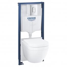 GROHE Комплект структура за вграждане RAPID SL 5 в 1 с казанче, бутон, тоалетна чиния и капак с плавно затваряне 39536000