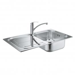 GROHE Комплект кухненска мивка K300 и смесител EUROSMART едноръкохватков 31565SD0